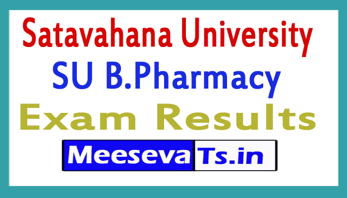 Satavahana University B.Pharm Exam Results 2017
