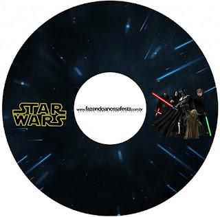 Etiqueta CD´s para Imprimir Gratis de Star Wars.