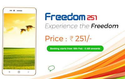 251 freedom smart phone