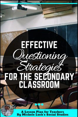 Go back to school with effective questing strategies, tips and tools to use in your middle or high school classroom. With a little organization and ideas like the challenge questions, you can transform your secondary classes into master thinkers!