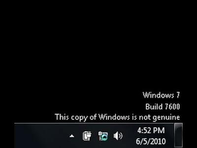 Membuat windows 7 bajakan menjadi full version
