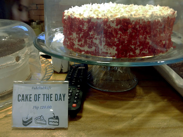Red velvet cake at UkeHUB Kafe in Mactan Island Lapulapu City Cebu Philippines