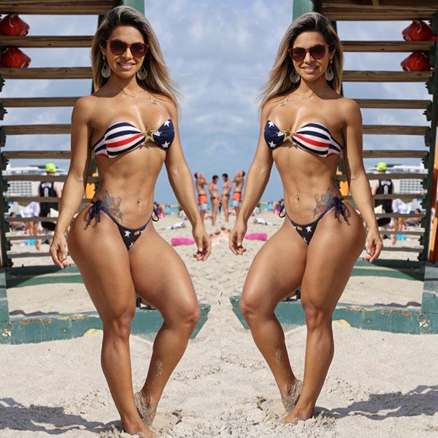 Fitness Model Aline Barreto  Instagram photos