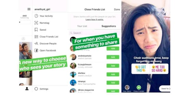 Instagram Adds the Ability to Share Stories with Only A Close Group of Friends