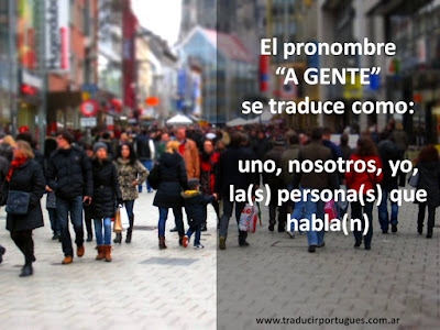 A gente, traducción, portugués, español, las personas