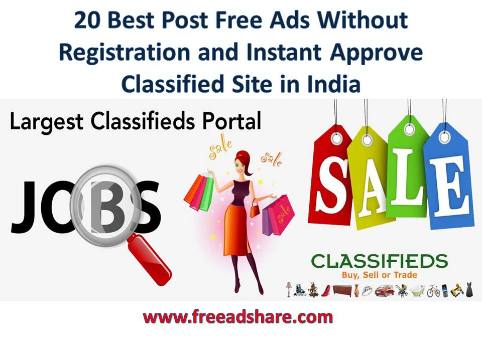 free ad posting sites in india without registration list