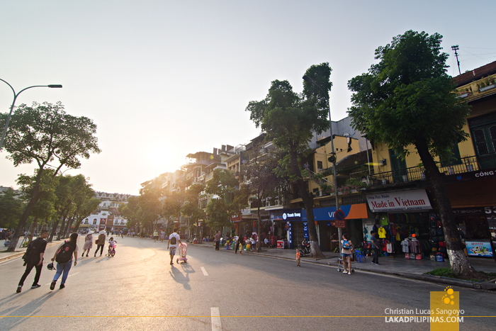 Hanoi Walking Street Sunset