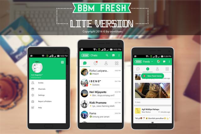 BBM Mod Fresh Lite V2.13.1.14 Ringan Terbaru Untuk Android 2017 APK