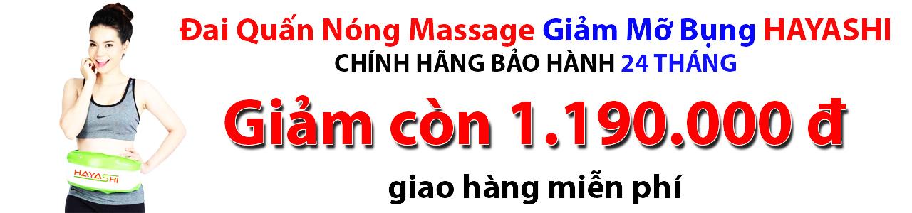 Đai Quấn Nóng Massage Giảm Mỡ Bụng HAYASHI CHÍNH HÃNG BẢO HÀNH 24 THÁNG