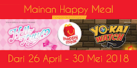 Mainan Happy Meal McD April - Mei 2018