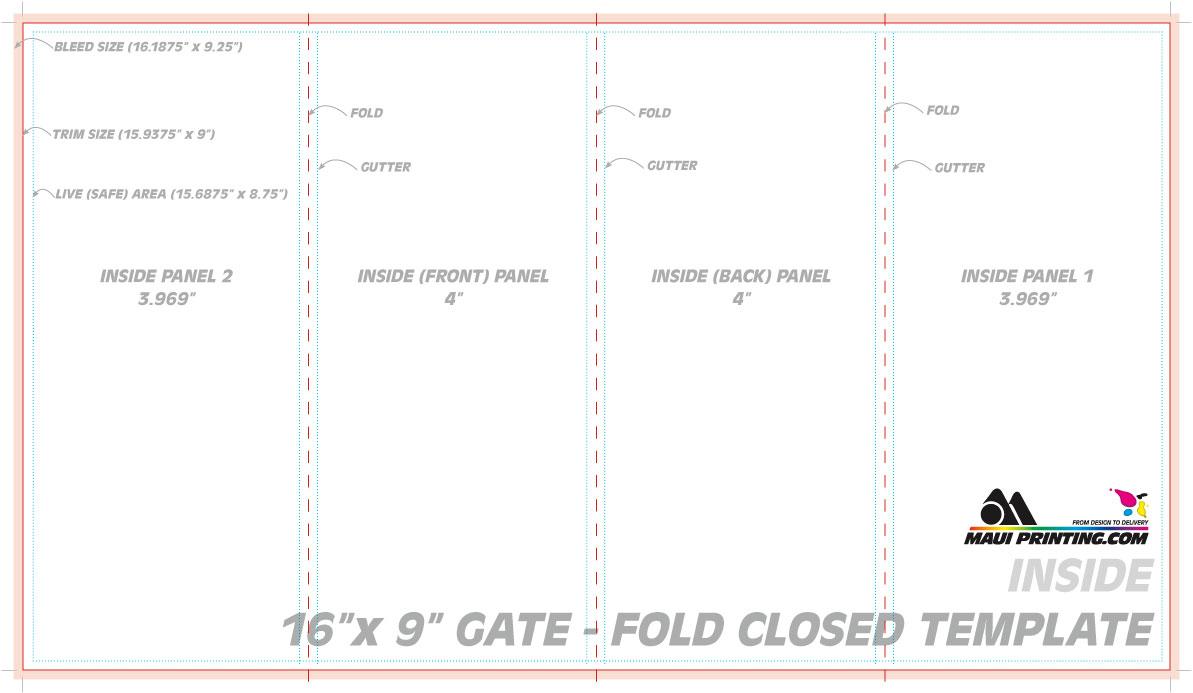 4 fold brochure template