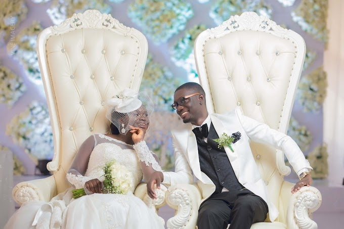 Photos: Celebrity Blogger Ameyaw Debrah and sweetheart Elsie Darkoa tie the knot in classic ceremony