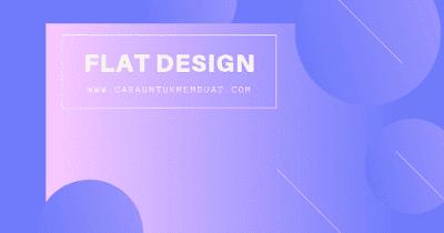Contoh Gambar Flat Design 1