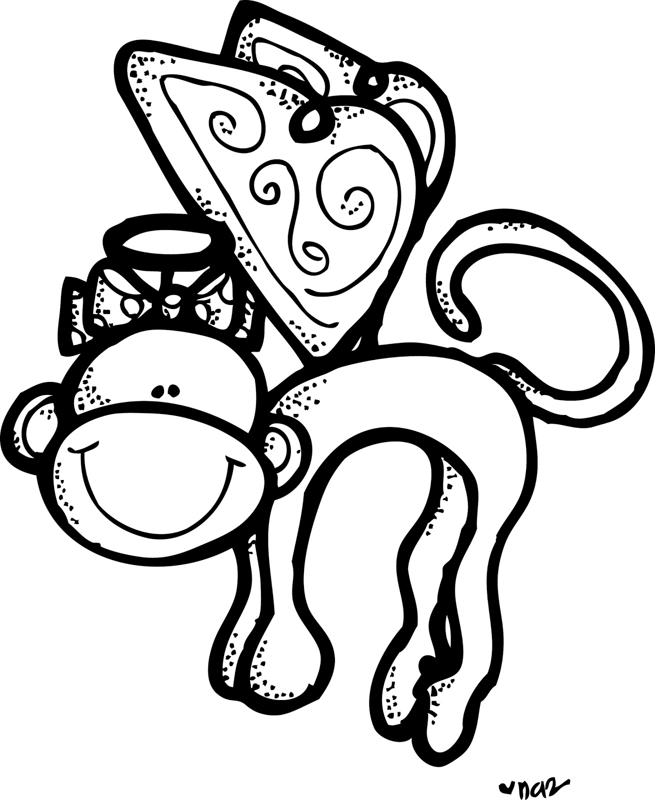 flying monkey - Baby Shower Monkey Coloring Pages