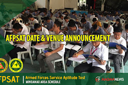 AFPSAT Schedule CY 2019 | Mindanao Area