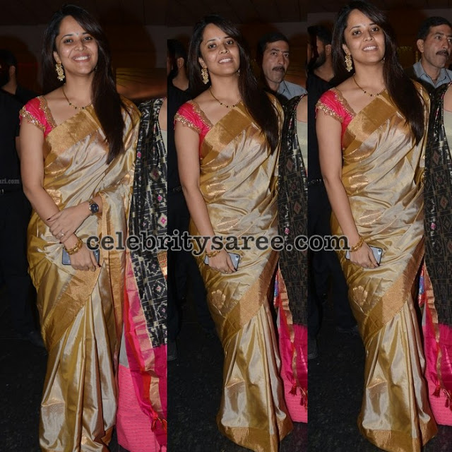 Anchor Anasuya Traditional Silk Sari