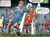 Jurgen sprinting away for Kelburn (1992/93)