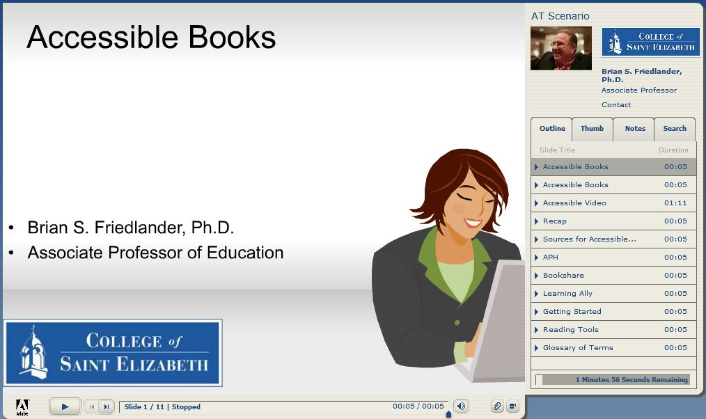 Using Adobe Presenter 8 with Moodle | Assistive Technology