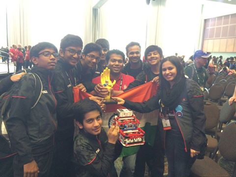 CAPITAL KIDS STRIKE GOLD AT THE FIRST ROBOTICS WORLD CHAMPIONSHIP
