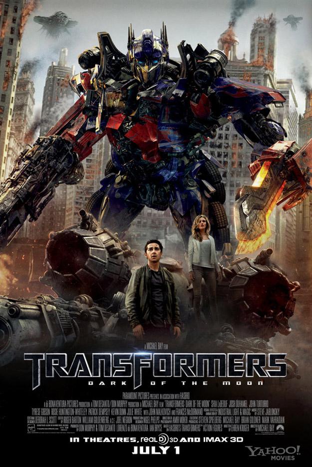 Nuevo poster de Transformers El lado oscuro de la luna