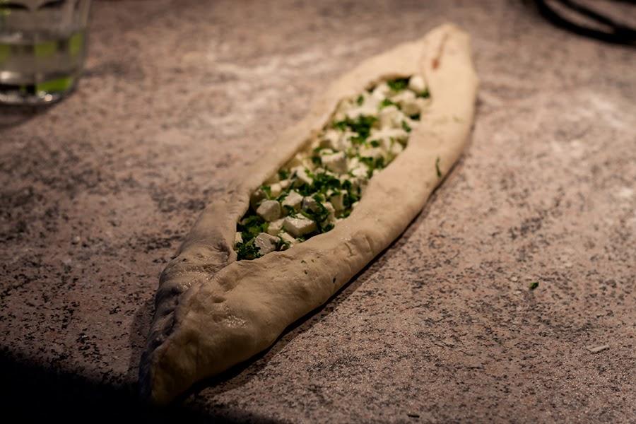 tyrkisk brød med timian