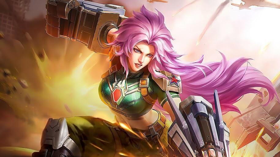 Masha, Combat Maiden, Mobile Legends, Starlight, Skin, 4K, #7.992