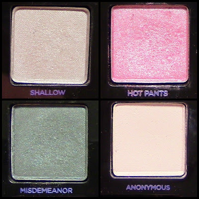 urban decay vice reloaded  shallow, hot pants. misdemeanor, anonymous
