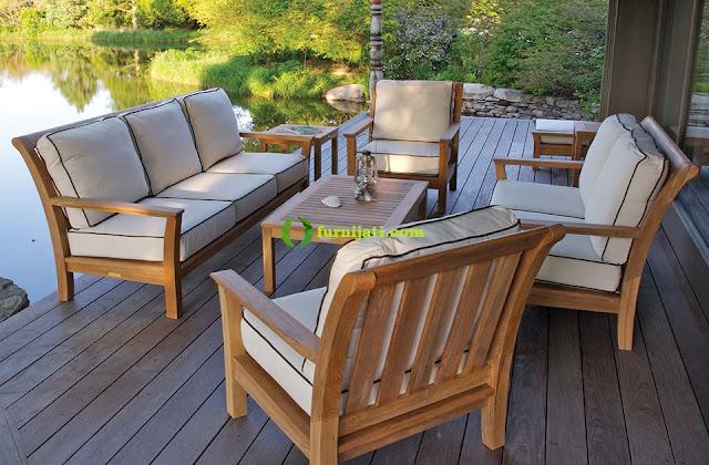 gambar meja kursi ruang tamu kayu jati