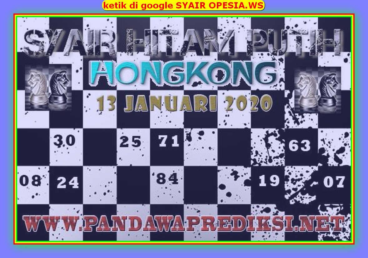 Kode syair Hongkong Senin 13 Januari 2020 111