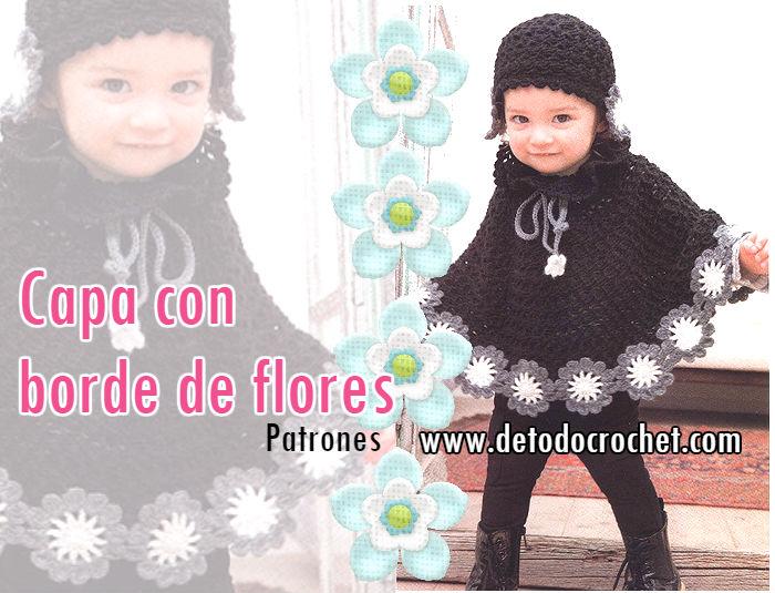 Capa para Nenas con Borde Floral / DIY | Todo crochet