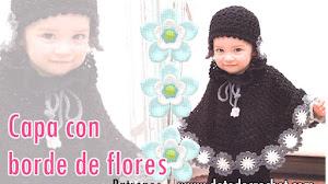 Capa para Nenas con Borde Floral / DIY