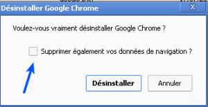 - ألغِ تثبيت جوجل كروم Google Chrome