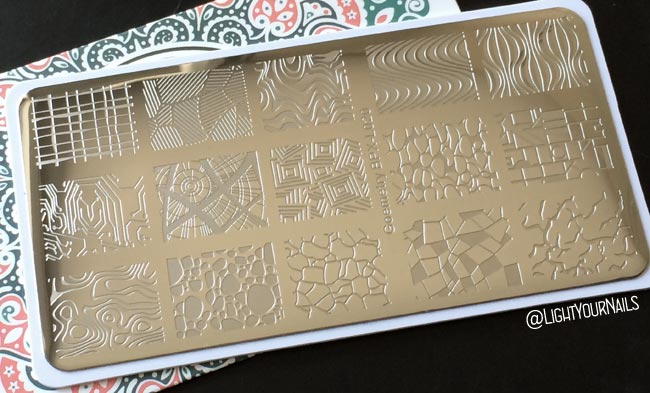 Nail stamping plate BPX-L020 Geometry at Bornprettystore