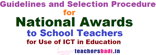 National ICT Awards,Guidelines,Selection Procedure