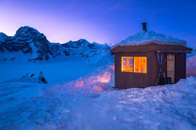 Lihat kehidupan primitif di Rumah Gunung Don Sheldon