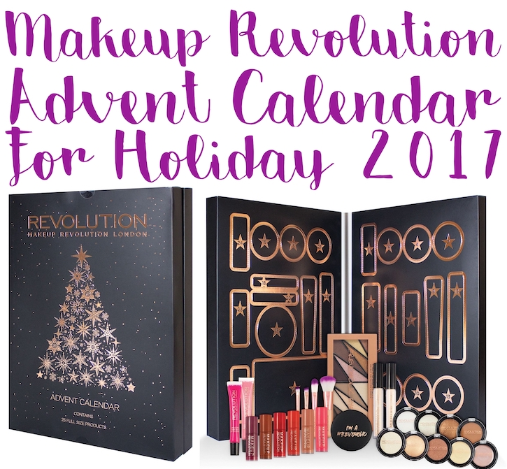 Here are the contents of the Makeup Revolution Beauty Advent Calendar for Holiday 2017 - ships worldwide.