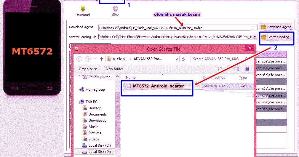 Bencahalay: Cara flash android advan s5e via USB dengan SP ...