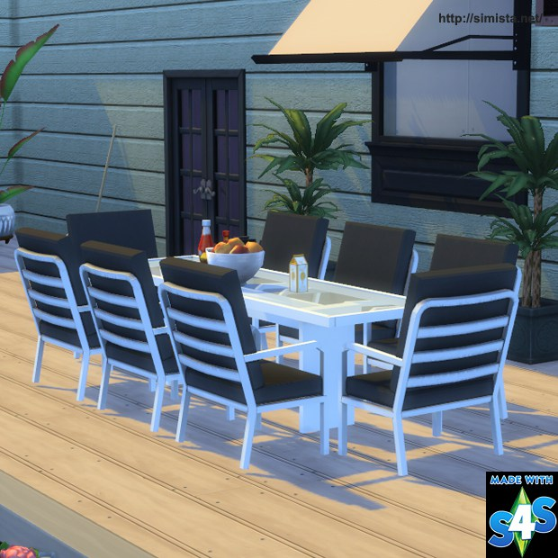 Sims 4 CC's - The Best: Outdoor Living and Dining Set by ... on Cc Outdoor Living id=52787