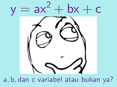 Perbedaan Parameter, Variabel dan Konstanta