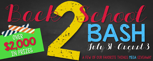 First Class Teacher: Back to School Giveaway Bash and TPT Back to School Sale!
