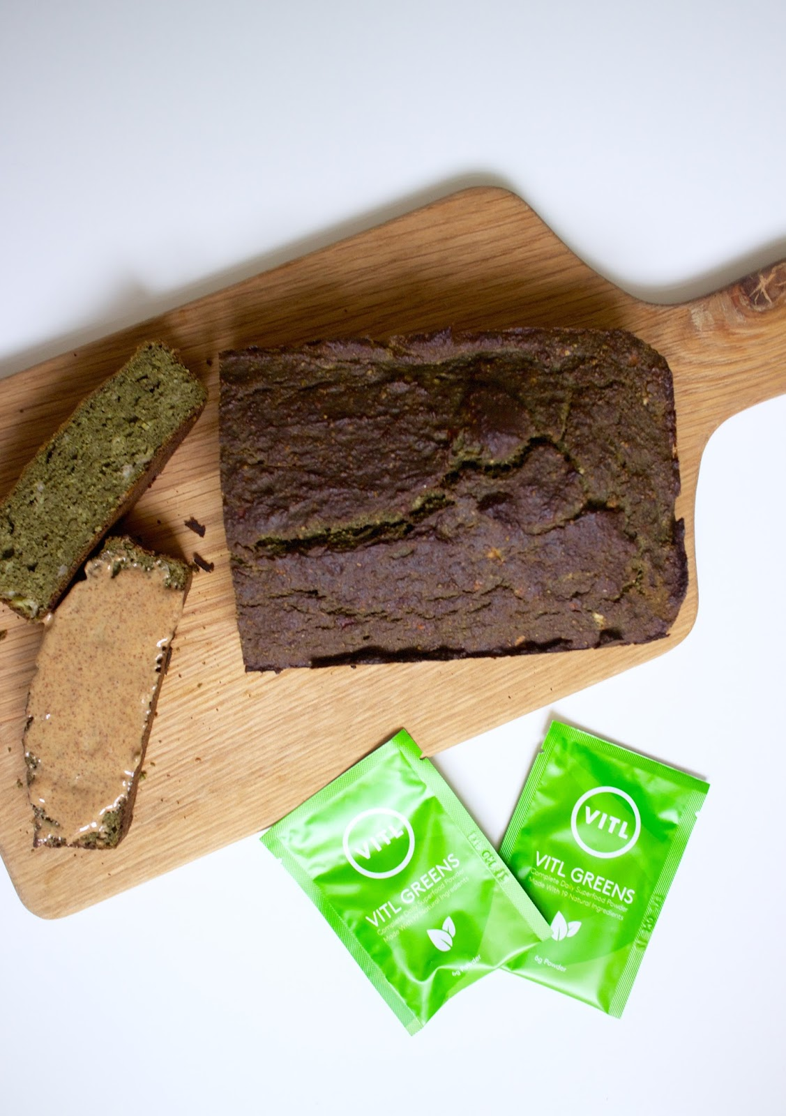 She's So Lucy VITL Greens Review Green Bluten Free Sugar Free Banana Bread Recipe Easy Healthy UK British Blogger Health Wellness Beauty