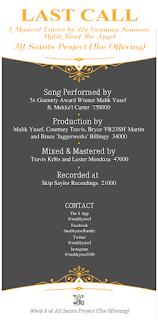 New Music: Malik Yusef – Last Call Featuring Mekke'l Marshae