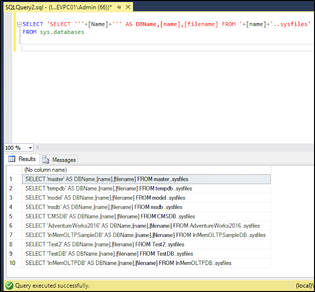 Executing T-SQL Statements Against All Databases in SQL Server - SQLNetHub