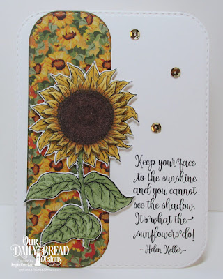 Our Daily Bread Designs Stamp Set: Be A Sunflower, Custom Dies: Sunflower, Double Stitched Rounded Rectangles, Paper Collection: Follow the Son
