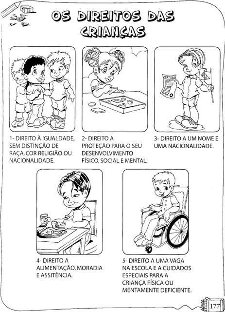 Os Direitos Da Crianca Para Colorir Aprender E Brincar