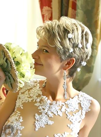 stars coupes des cheveux coiffure de mariage courte. Black Bedroom Furniture Sets. Home Design Ideas