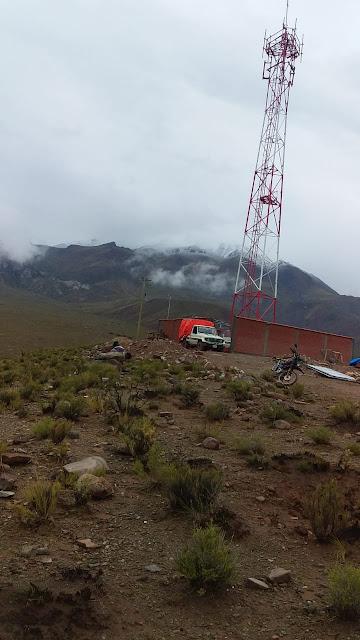 Der ENTEL Turm in Esmoraca Bolivien