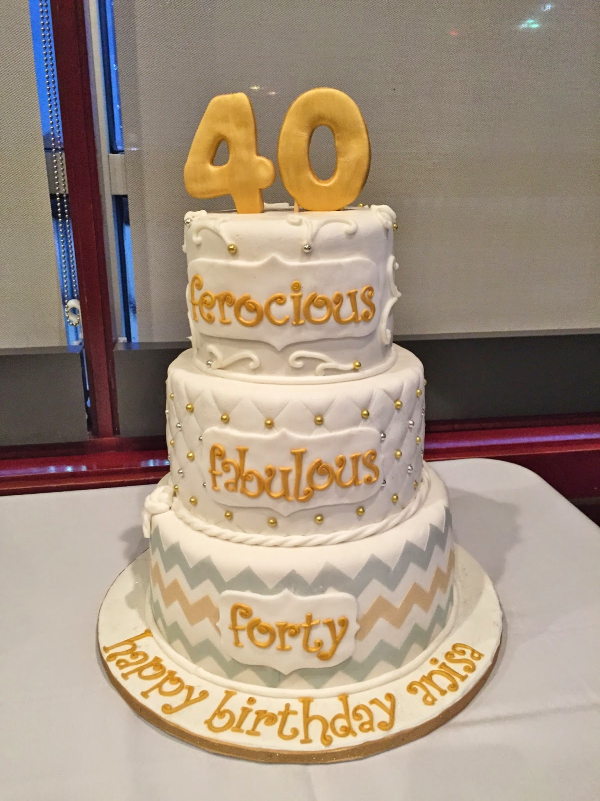 Cakes By Mindy Gold And Silver 40th Birthday Cake 6 Quot 8