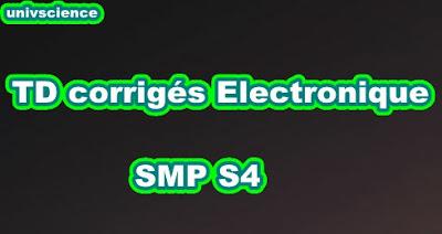 TD corrigés Electronique de Base SMP  S4 PDF