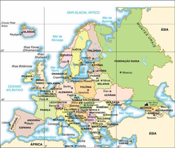 #Europa, Aspectos Geográficos e Sociais da Europa